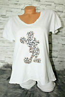 Italy New Collection T-Shirt weiß Leo Mickey Mouse Gr. 36 38 40 42 blogger