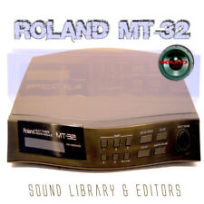 for ROLAND MT-32 Original Factory and New Created Sound Library & Editors on CD