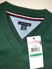 Tommy hilfiger school uniform collection bottle green  jumper sweater