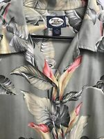 🌴Tommy Bahama Woman's Long Sleeve Button Down Shirt Small S Floral👩 Free Ship!