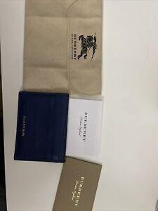 Burberry card wallet blue/plaid