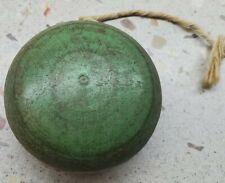 New listing 19th Century Painted Green Toy Yo-Yo