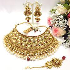 Indiano Bollywood Mukut Collana Set tradizionale festa nuziale indossare gioielli