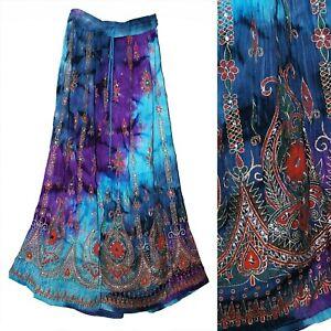 Plus Size 1X 2X 3XL Skirt For Maxi Jupe Long Retro Women Falda Dress Ethnic Boho