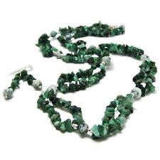 Lovely Sterling Silver Emerald Chip and Agate Necklace & Earring Set By SoniaMcD