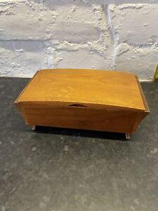 Vintage Wooden Cigarette Box By Tallent Of Old Bond Street London England - Teak