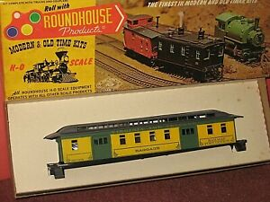 HO Roundhouse Kit: Virginia & Truckee. old time 50' Baggage/ RPO car, C-9/ob bd