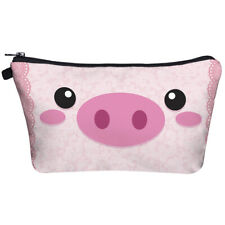 cute pig lace pattern cosmetic makeup bag make up case printed