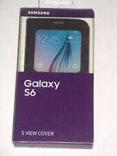 Original Samsung Galaxy S6 S-VIEW Cubierta Estuche Flip EF-CG920 Funda
