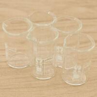 5x 5ml Borosilikatglas Bechergläser Becherglas Laborglas Meßbecher Beste Neu