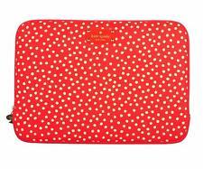 """DESIGNER KATE SPADE 13"""" Red Polka Dot Laptop tablet case bag free post n return"""