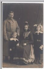 WW1 Portrait German Soldier & Family, Possibly 2nd Silesian Grenadiers RP PPC