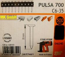 SPIT ACCESSORI: 500 chiodi c6-35 per pulsa 700 + 800 P/E gasnagler, 35mm