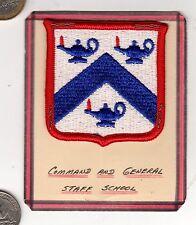 US ARMY COMMAND & GENERAL STAFF SCHOOL Vietnam era Color Patch Regiment Division