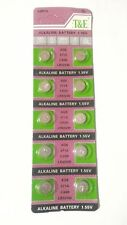 New ! 10 Pcs Alkaline Battery 1.55V T&E Ag4 626A 377A Cx66W for Watch Us Seller