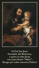 SPANISH O Fiel San Jose Prayer Card (wallet size)