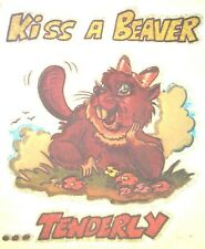 Oral Sex Pussy Kiss A Beaver T-Shirt Iron-On Heat Transfer Retro Vintage Funny