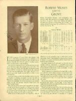 Lefty Grove Signed 1933 Whos Who Page Psa/dna Autograph Authentic