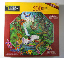 Factory Sealed 1996 National Geographic LIFE IN THE RAINFOREST 500 Piece Puzzle