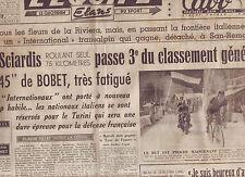 journal  l'équipe  du 13/07/48 CYCLISME TOUR DE FRANCE 1948  GINO SCIARDIS