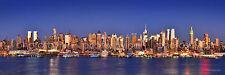 New York City NYC Manhattan Midtown Skyline Panoramic Photo Print Poster 12x36
