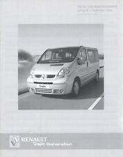Renault Trafic Generation Preisliste 1.9.05 Preise price list 2005 Nutzfahrzeuge