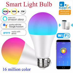 WIFI Smart Light Bulb,RGB Color LED Alexa,Homekit siri Google Home 10W E26 E27