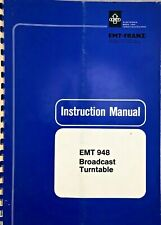 Original EMT 948  turntable instruction book