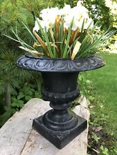 Vintage Antique Cast Iron Planter Urn for Garden or Table