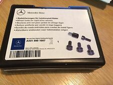 Original Mercedes Benz Wheel Lock Nuts New. Safety Bolts Part A0019901607