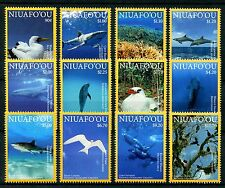 Niuafo'ou 2016 MNH Marine Life 12v Set Whales Dolphins Birds Sharks Stamps