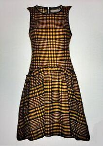 Bolongaro Trevor Eileen Dress, Dijon Black, New!