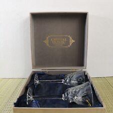 Crystal Donau Lead Crystal Hang cut Wine Goblets by Kamei Glass