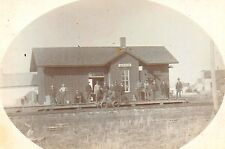 Boudoir Photograph – Mazon Railroad Depot – Railroad Handcar c1900