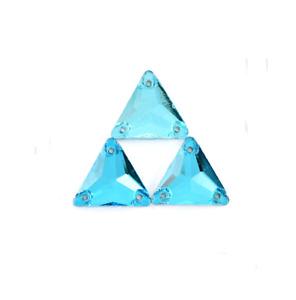 Triangle Colour Glass Rhinestone Sew On Crystal Jewels Dress Flatback Beads
