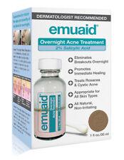 Emuaid Overnight Acne Treatment 2% Salicylic Acid-Rosacea, Cystic Acne (1 Fl oz)