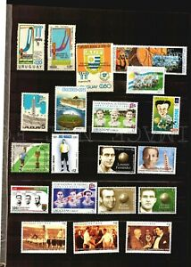 1930 First Soccer FIFA World cup - all stamps from Uruguay collection complete