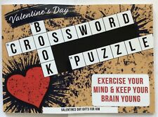 Valentines Day Gifts for Him: Crossword Puzzle Book: Valentines Gifts for Him:..