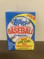 1989 Topps Baseball Unopened Wax Pack - possible Johnson, Smoltz RC