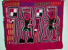 Vtg MOLA Kuna Art Panama Pre 1970s Blouse Single Panel Fabric Handmade 15.5x13.5