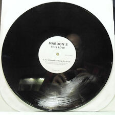 """Maroon 5 This Love Mix Show, Sound Factory Mix 12"""" 33 RPM DJ White Label Promo"""
