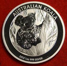 2013 AUSTRALIAN  KOALA DESIGN 1 oz .999% SILVER ROUND BULLION COLLECTOR COIN