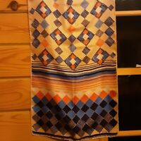 Boho 1970's Echo Scarf w/ Geometric Sunset (46 x 14)