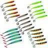 5pcs Soft Fishing Lures Lifelike 3D Plastic Lure Paddle Tail Fishing Gear 9cm
