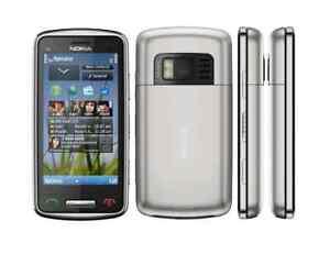 Nokia C6-01 in Silber Handy Dummy Attrappe - Requisit, Deko, Ausstellung, Muster