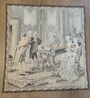 Vintage Woven French Tapestry 36x38 Mozart Playing Piano