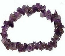 Amethyst Chip Bracelet/Wicca Crystal Healing Gemstone