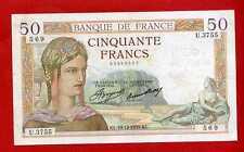 (B 18 a) 50 FRANCS CÉRÈS 19/12/1935 TTB+