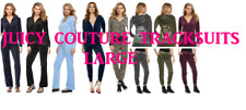 NWT Juicy Couture Tracksuit sets Velour Jacket Jogger or Bootcut Pants Women L