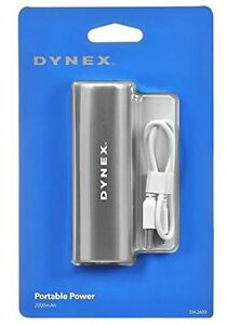 Dynex - Portable Charger - Gray DX-2602